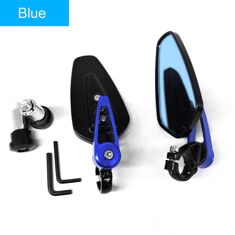 """Red 7//8/""""22mm Aluminum Rear View Side Mirrors Handle Bar End Scooter Offroad ATV"""