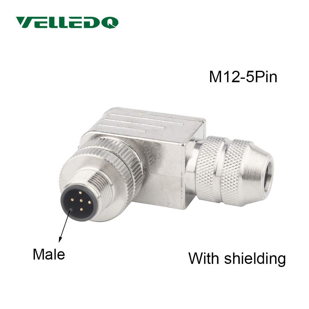 High Quality 5 Contacts 5-Pin Aviation Plug M12 Cable to Cable type