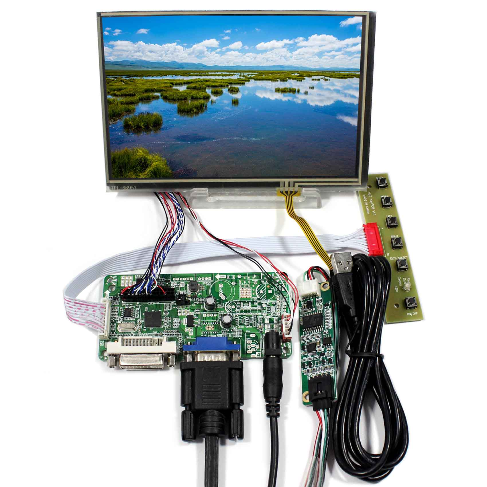 Details About 7 1280x800 N070ICG LD1 IPS LCD Touch Screen VGA DVI Controller Board