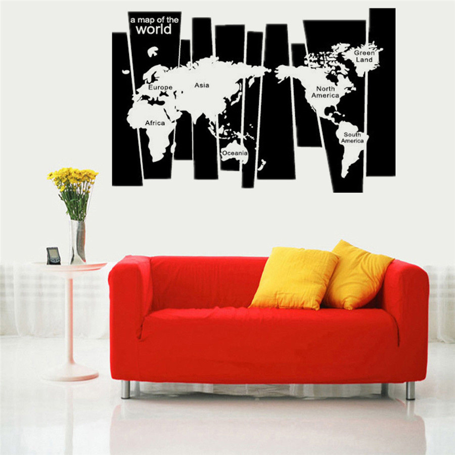 Removable vinyl mural world map wall sticker diy decal home room removable vinyl mural world map wall sticker diy decal home room decor art craft gumiabroncs Gallery