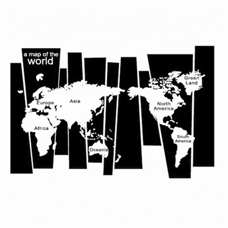 Removable vinyl mural world map wall sticker diy decal home room removable vinyl mural world map wall sticker diy decal home room decor art craft gumiabroncs Images