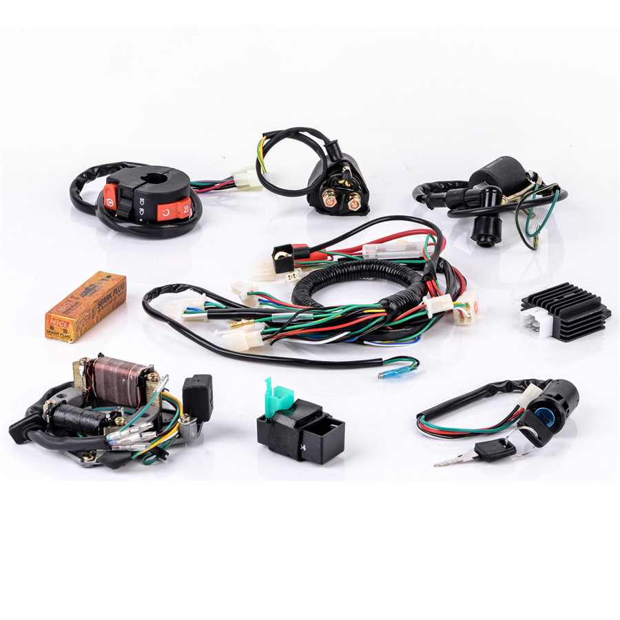 50cc 125cc Motorcycle 5 Pins Spark Plug Cdi Electric Start Quad Wire Dirt Bike Wiring Harness Together With Pin Diagram In