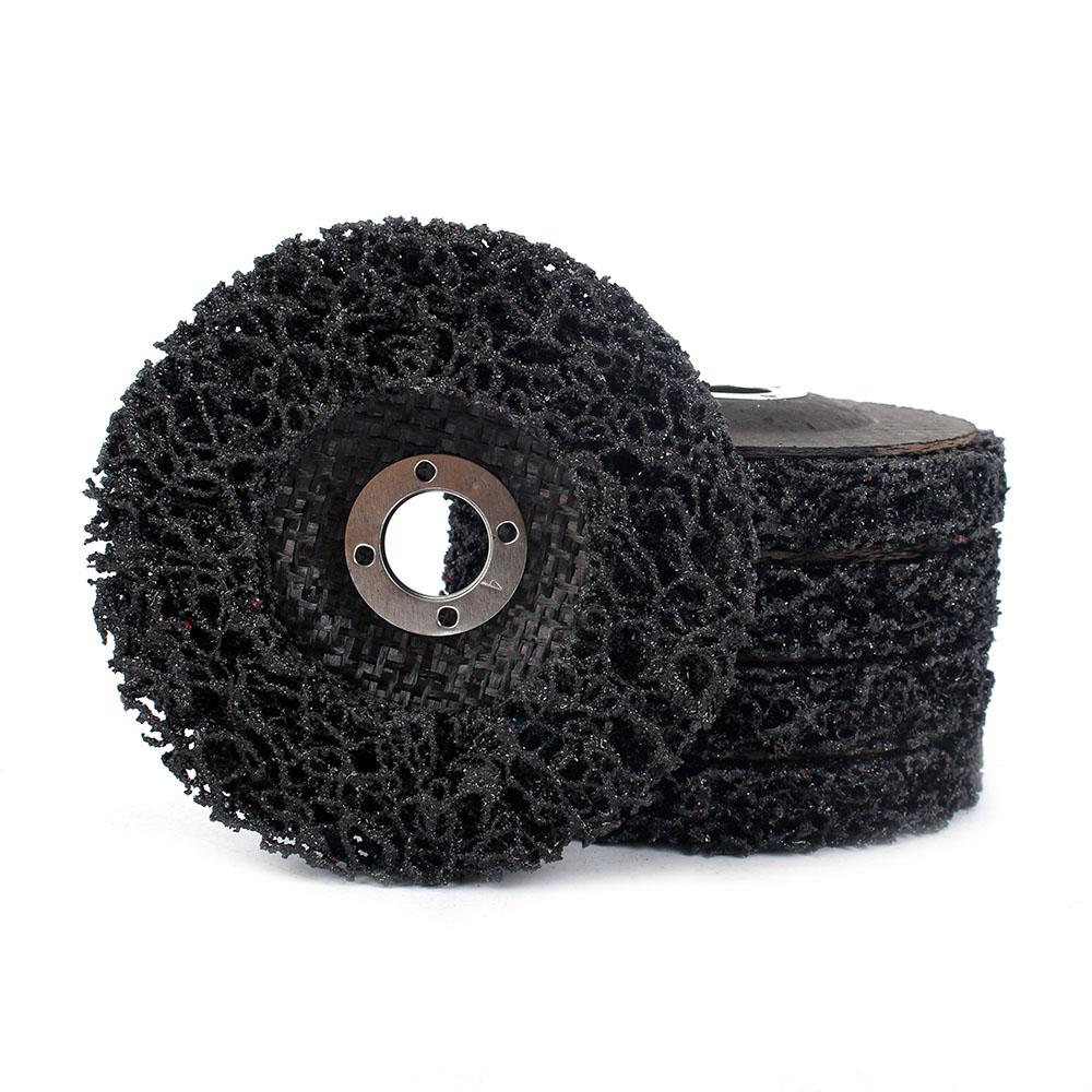 "1//2//5//10Pcs 4/"" Poly Strip Disc Wheel Polishing Derusting Tool For Angle Grinder"