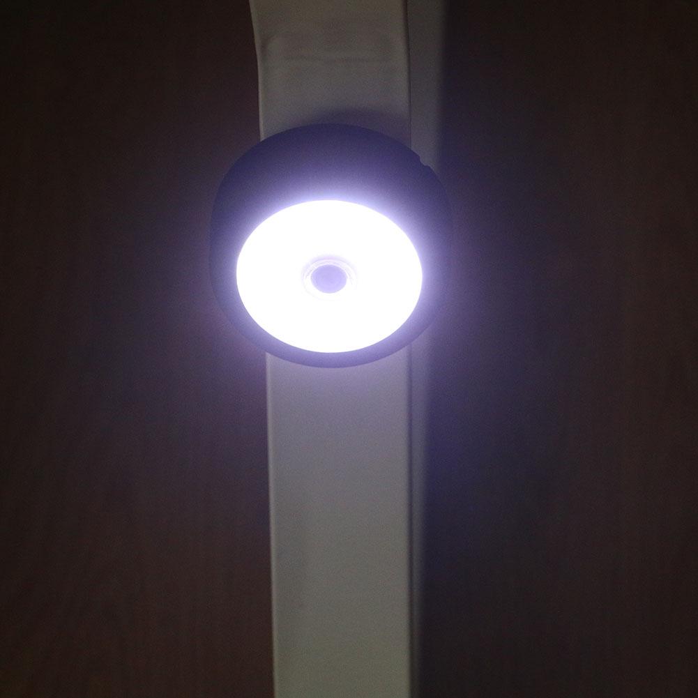 Round COB LED light Black 8*3 cm Inspection Light Magnetic Base+Adjust
