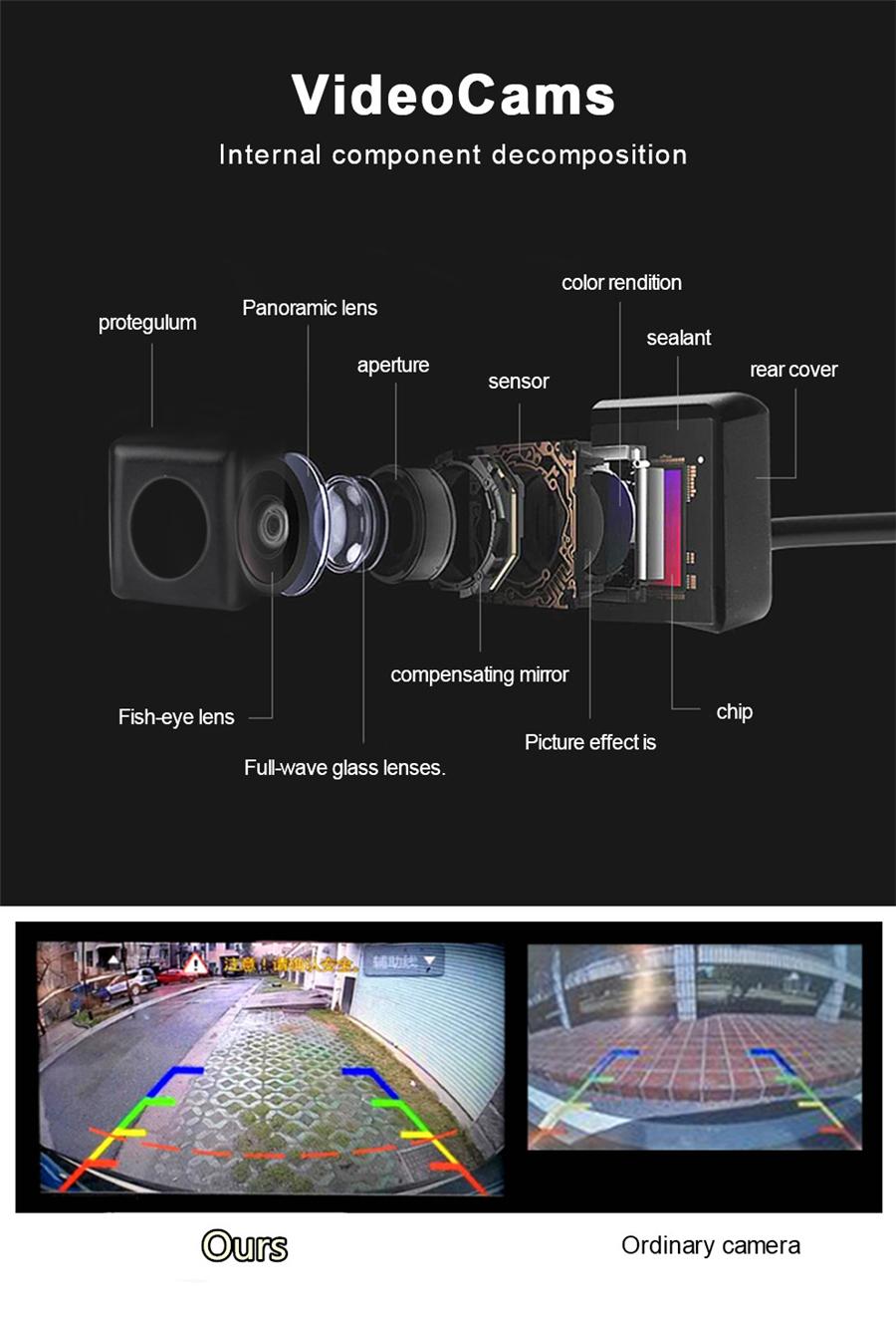 À prova d /'água 360 ° Sistema De Panorâmica Sem Costura 4 Carro DVR Câmera Estacionamento Ré Cam
