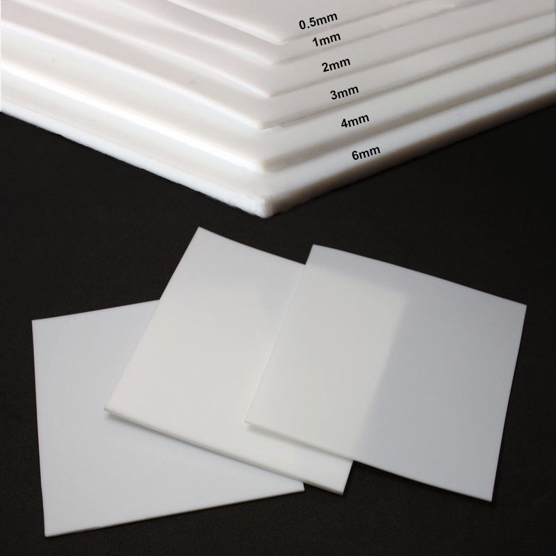 White PTFE Film//Sheet High Strength Temperature Electrical 500mm*250mm*0.5MM