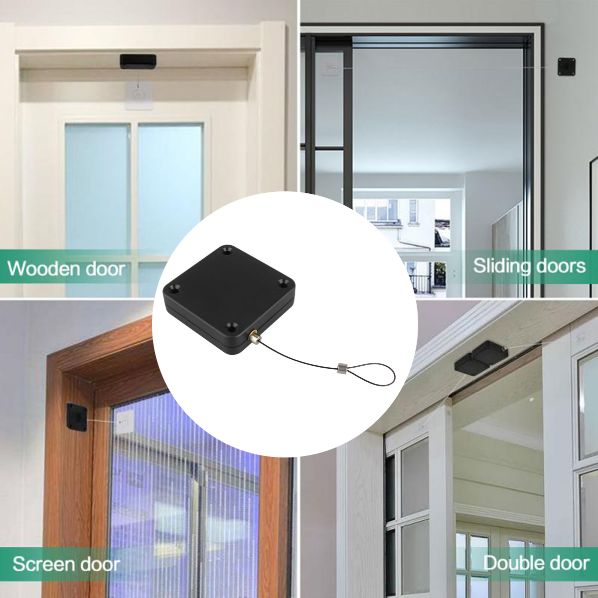 Punch-free Automatic Sensor Door Closer Portable Quality Home Office Doors a a