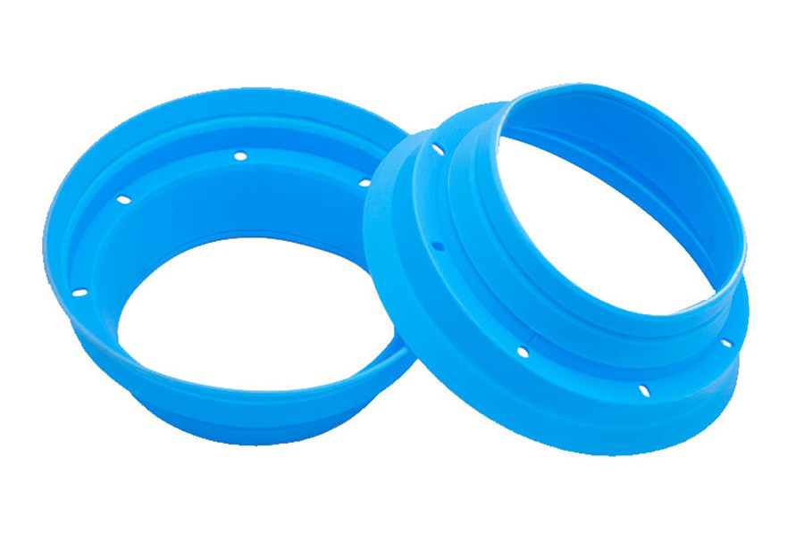 """2Pcs 6.5/"""" Speaker Waterproof Cover Silicone Insulation Shock Seal Mount Adapter"""