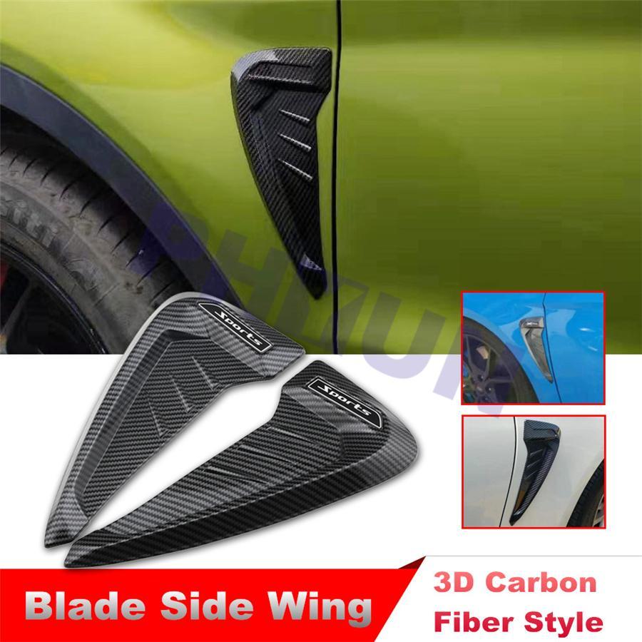 Fender Reflective Sticker Paster Side Body Edge Carbon Fiber Decor Wheels Arch
