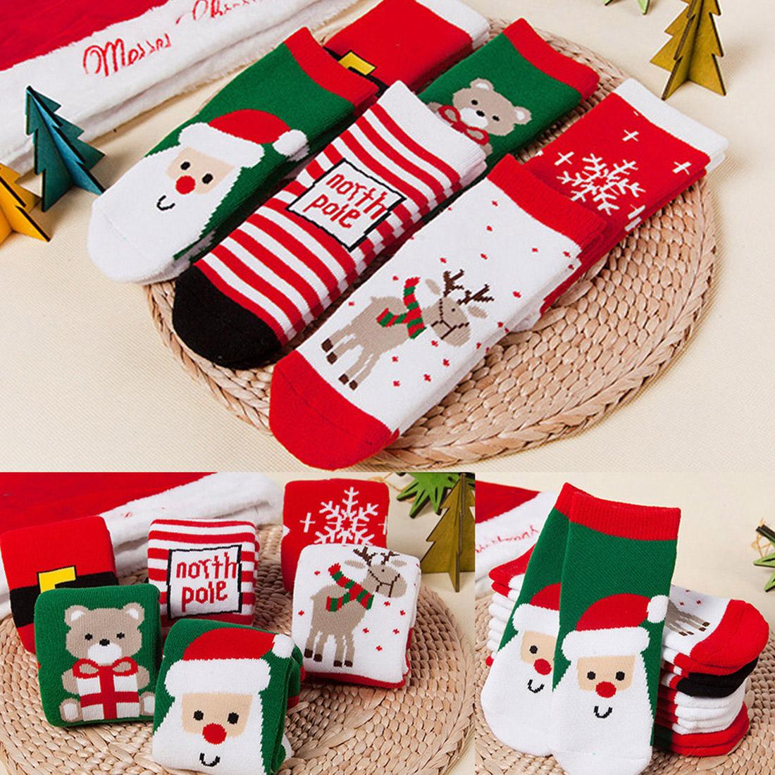 Pack Of 3 Kids Christmas Socks,Children/'s Novelty Xmas Stocking Filler Gift