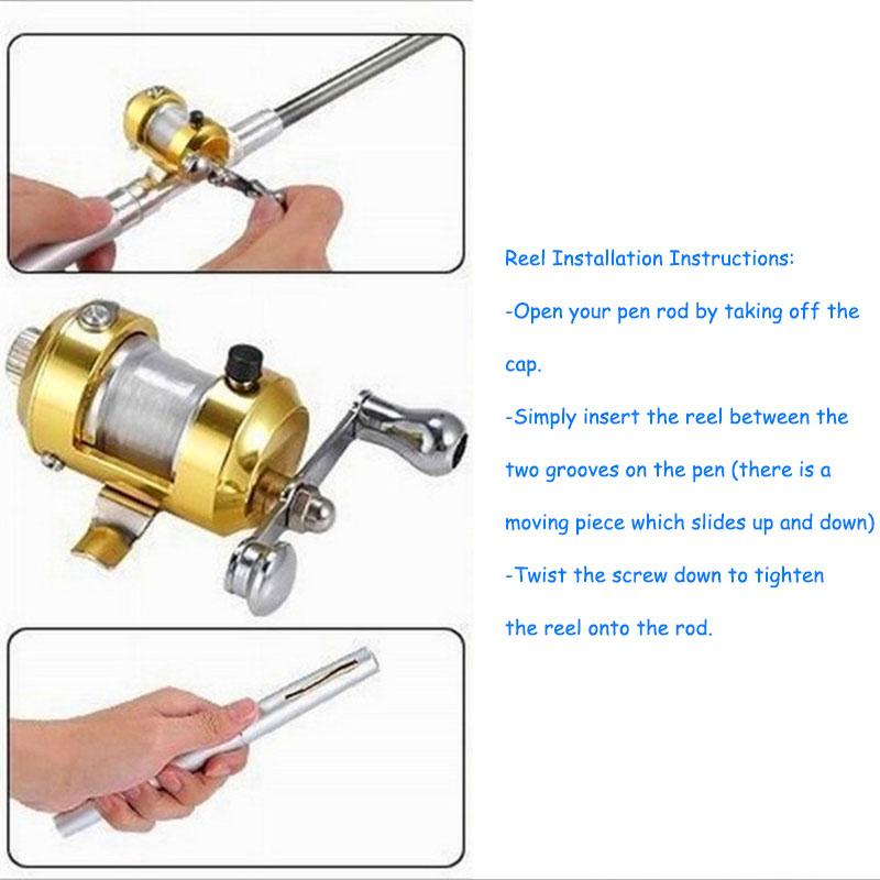 Portable Mini Telescopic Pocket Fish Pen Aluminum Alloy Fishing Rod