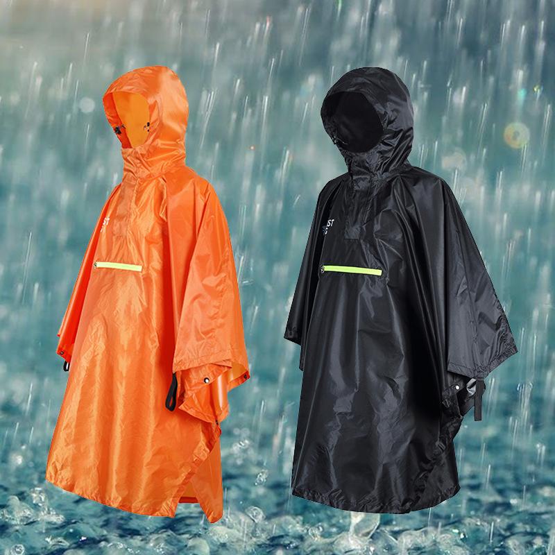 87ba2e6d60e04 Details about Hooded Adult Raincoat Outdoor Cycling Poncho Waterproof Rain  Coat Rainwear