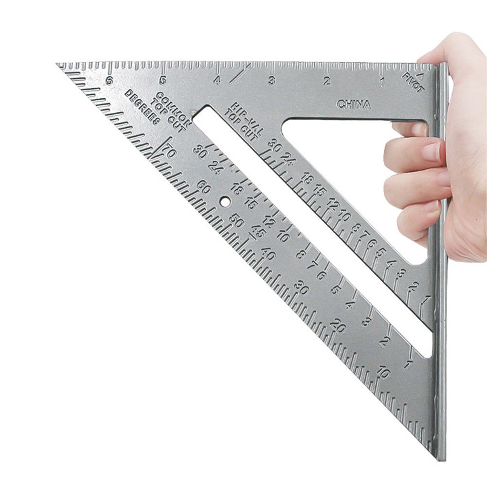 """7/""""Aluminium Alloy Roofing Rafter Speed Square Angle Measure Triangle Guide Tool"""