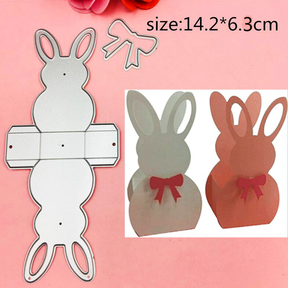 Bunny Rabbits Cutting Dies DIY Easter Carbon Steel Card Craft Embossing Stencils