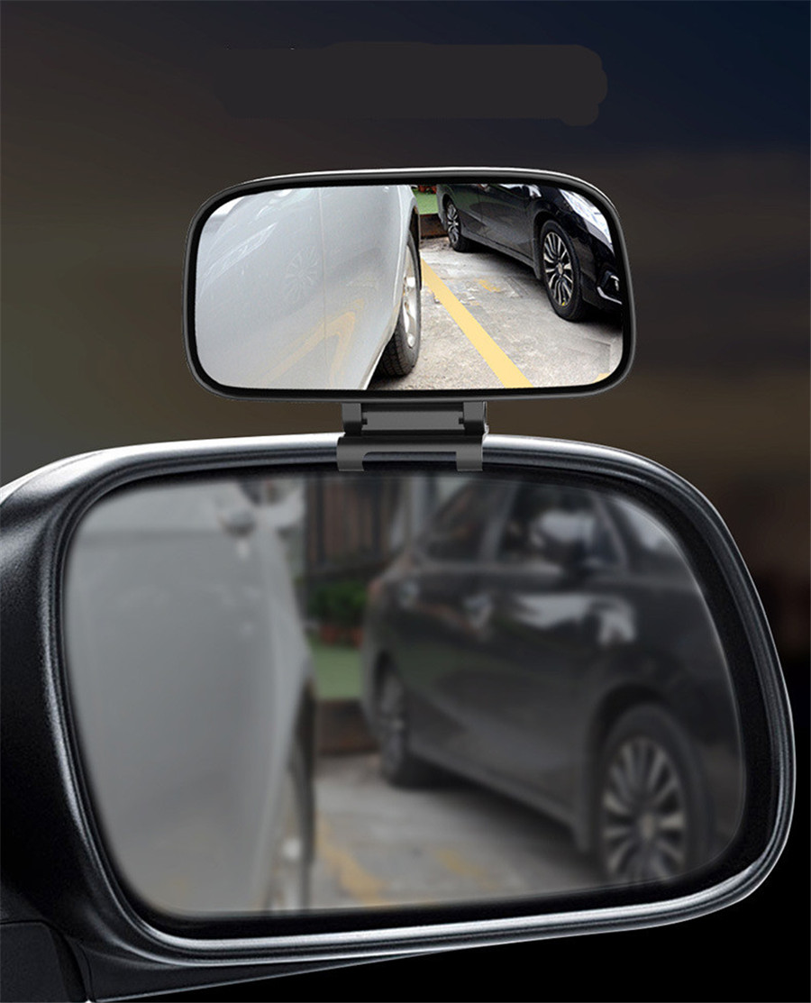 1xUniversal Auxiliary Mirror Adjustable Wide Angle Suitable For Side View Mirror