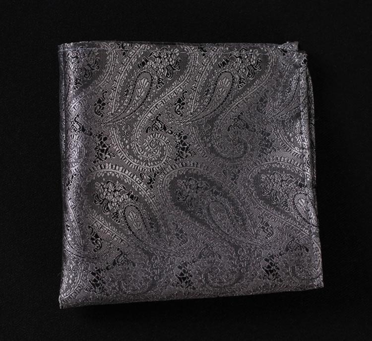 VE01 Gray Silver Paisley Men Silk Waistcoat Vest Pocket Square ... cf463c22a