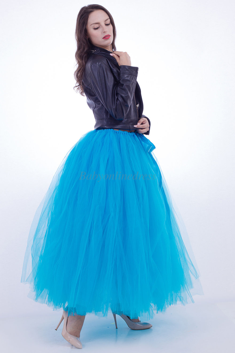 Long Ball Gown Bridal Petticoat Wedding Underskirt Tulle Tutu ...