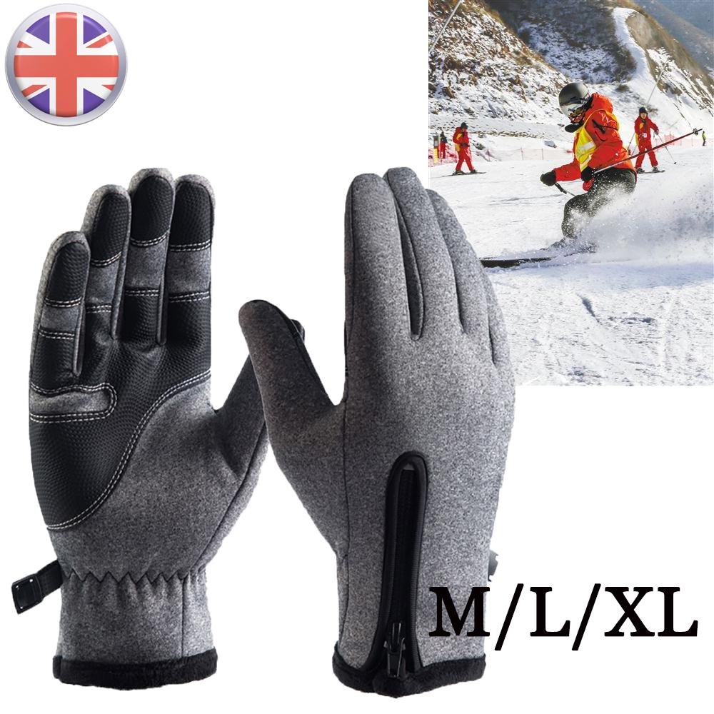 Winter Warm Windproof Waterproof Anti-slip Thermal Touch Screen Ski Men/'s Gloves