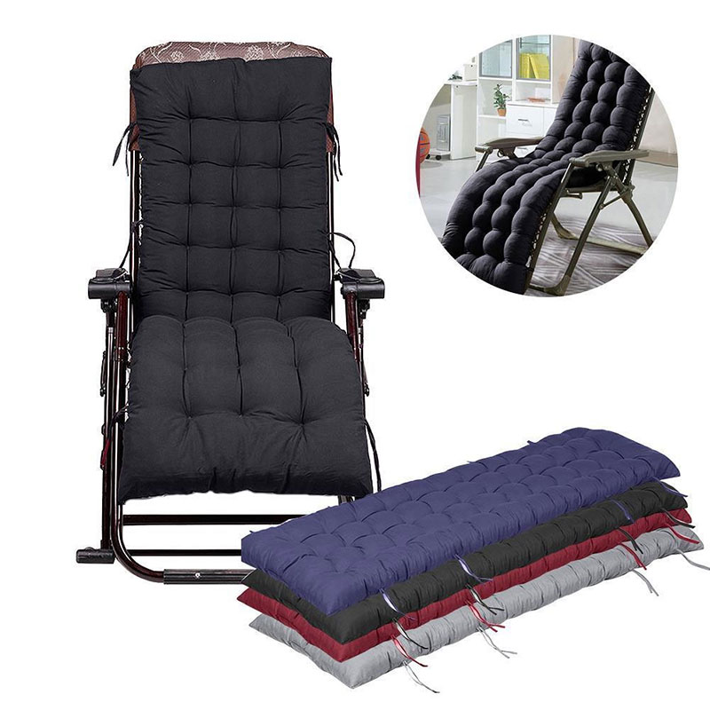 BO Chair Cushion Tufted Deck Chaise Padding For Outdoor Patio Pool Recliner US