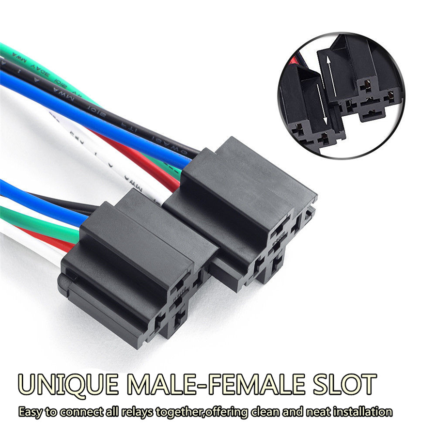 6 Pack Car 5 Pin Relay Harness 14 Awg Wires W   30a Ato  Atc