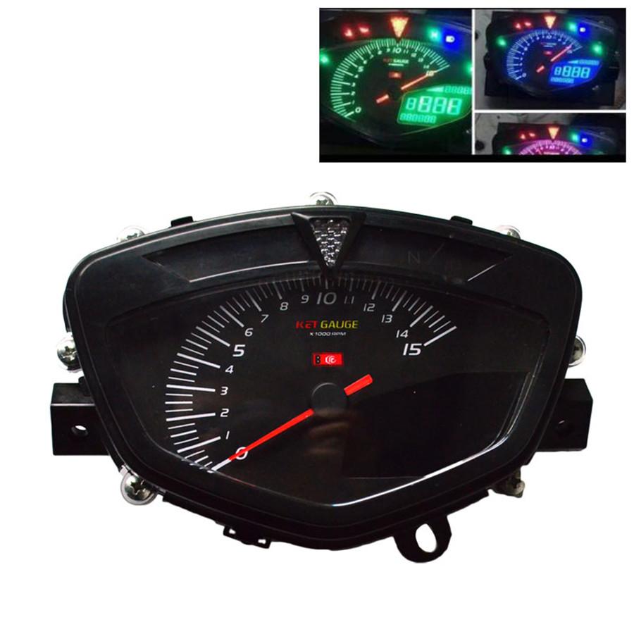Motorcycle Speedometer Scooter Lcd Digital Display