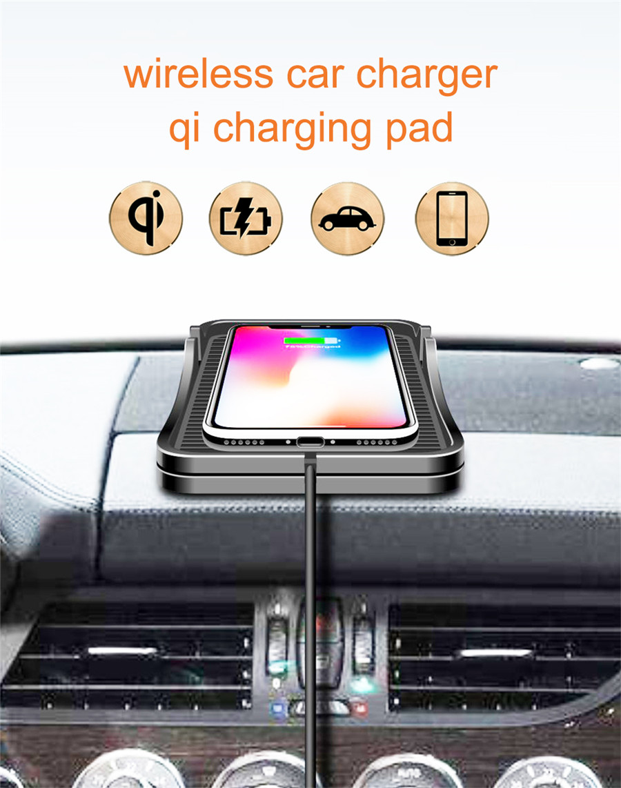 Wireless Qi Fast Charger Charging Dock Stand Holder Soft