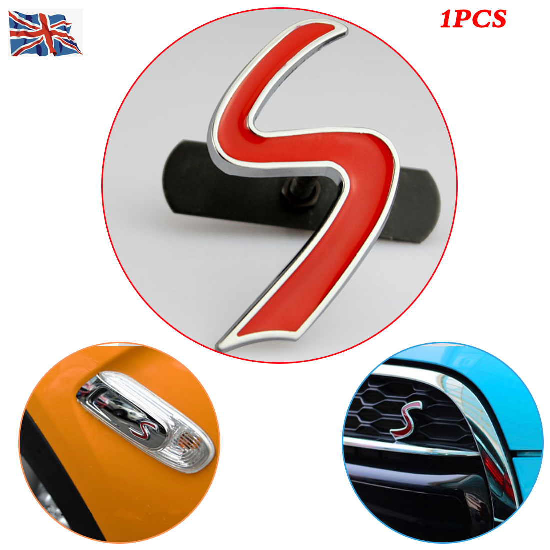 Black Red 1Pcs SPORT Metal Hood Front Grille Badge Emblem Replacement For Universal Cars