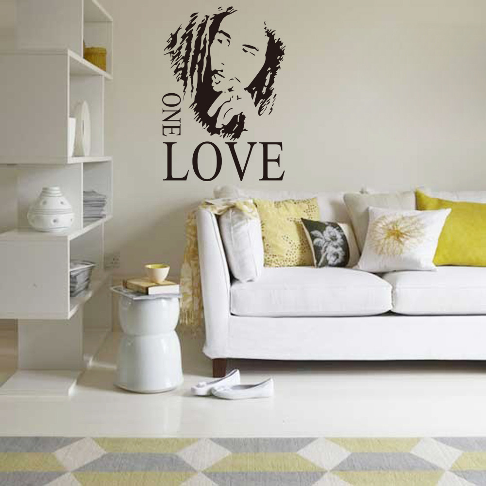 Wall sticker vinyl art decor bob marley one love mural removable wall sticker vinyl art decor bob marley one love mural removable decal room amipublicfo Choice Image
